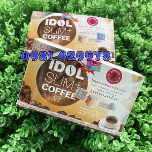 CAFE GIẢM CÂN IDOL SLIM+ COFFEE X2 THÁI LAN (BAO BÌ MỚI)